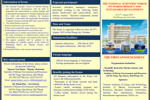 The national scientific forum on marine biology and sustainable development
