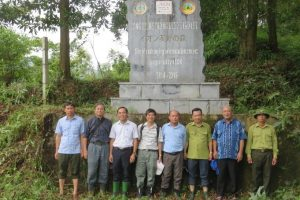 VNU-Central for Institute of Natural Resources and Environment Studies inspects the care and protection of planted forests in Ba Vi National Park under the Forest Restoration Project funded by AEON Environment Fund, Japan